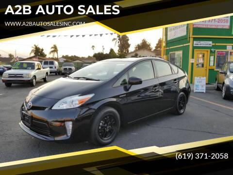 2012 Toyota Prius for sale at A2B AUTO SALES in Chula Vista CA