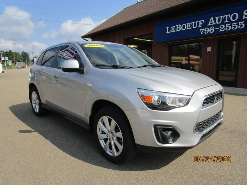 2015 Mitsubishi Outlander Sport for sale at LeBoeuf Auto Sales in Waterford PA