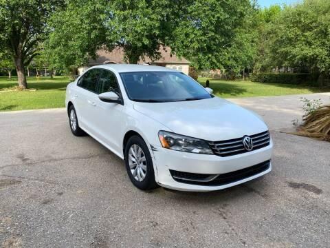 2012 Volkswagen Passat for sale at CARWIN MOTORS in Katy TX