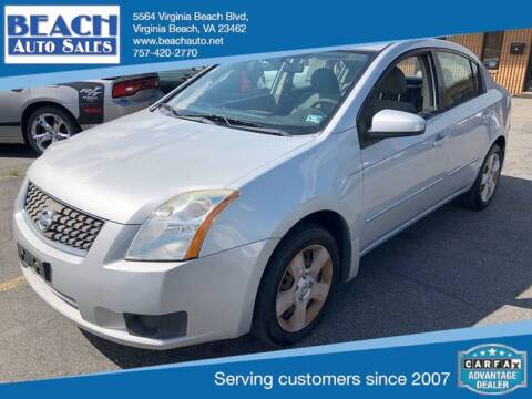 2007 Nissan Sentra for sale at Beach Auto Sales in Virginia Beach VA