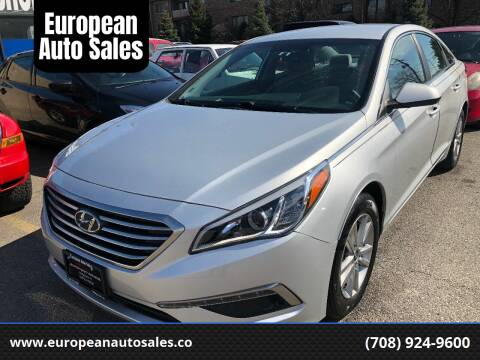 2015 Hyundai Sonata for sale at European Auto Sales in Bridgeview IL