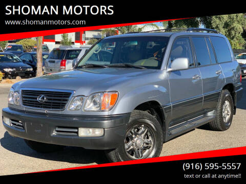 2001 Lexus LX 470 for sale at SHOMAN MOTORS in Davis CA