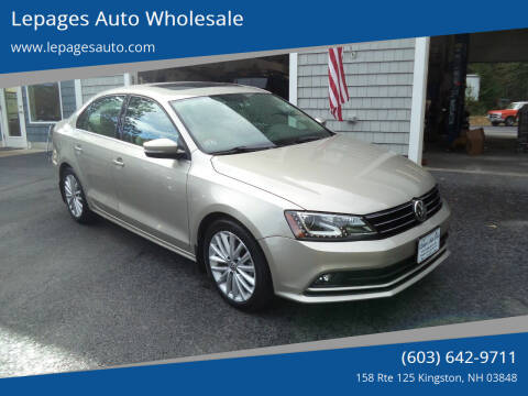 2016 Volkswagen Jetta for sale at Lepages Auto Wholesale in Kingston NH