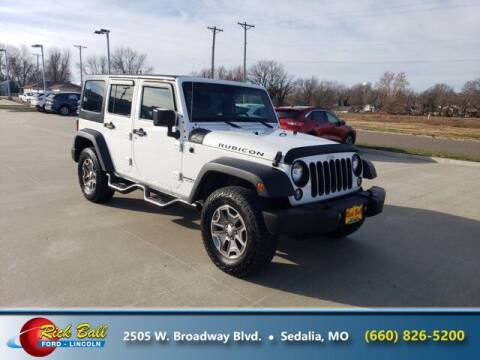 2016 Jeep Wrangler Unlimited for sale at RICK BALL FORD in Sedalia MO