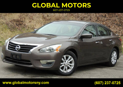 2014 Nissan Altima for sale at GLOBAL MOTORS in Binghamton NY