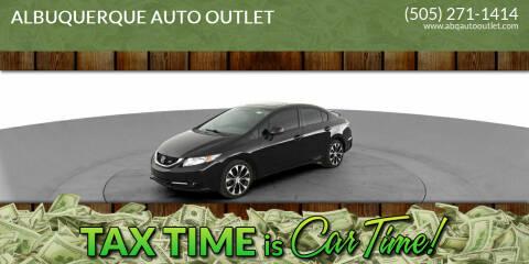 2013 Honda Civic for sale at ALBUQUERQUE AUTO OUTLET in Albuquerque NM