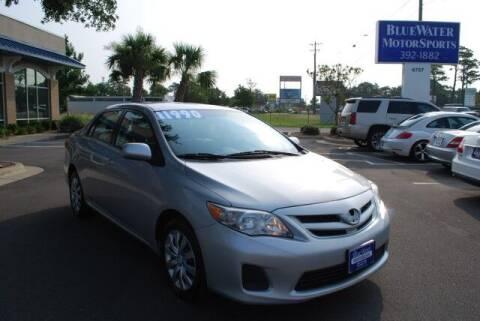 2012 Toyota Corolla for sale at BlueWater MotorSports in Wilmington NC