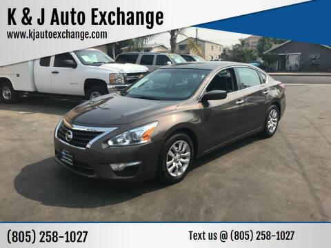 2015 Nissan Altima for sale at K & J Auto Exchange in Santa Paula CA