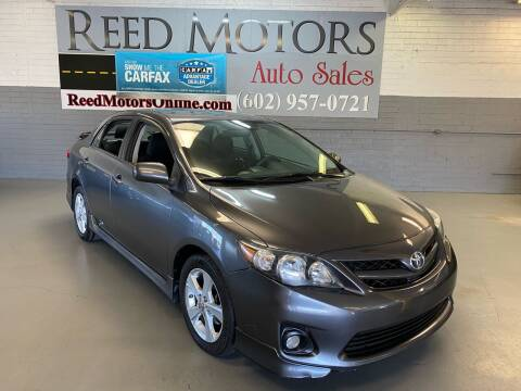 2012 Toyota Corolla for sale at REED MOTORS LLC in Phoenix AZ