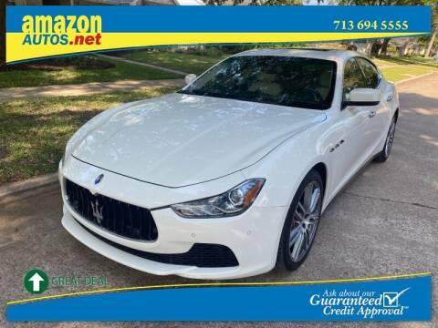 2016 Maserati Ghibli for sale at Amazon Autos in Houston TX