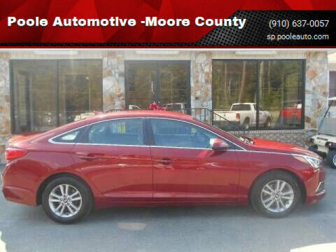 2016 Hyundai Sonata for sale at Poole Automotive in Laurinburg NC