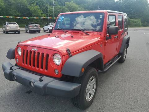 2018 Jeep Wrangler JK Unlimited for sale at Mulligan's Auto Exchange LLC in Paxinos PA