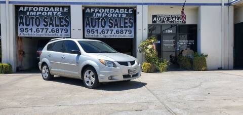 2004 Pontiac Vibe for sale at Affordable Imports Auto Sales in Murrieta CA