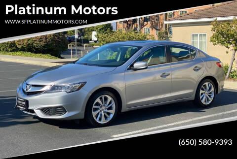 2017 Acura ILX for sale at Platinum Motors in San Bruno CA