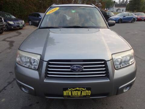 2007 Subaru Forester for sale at MOUNTAIN VIEW AUTO in Lyndonville VT