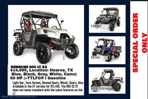 2020 BENNCHE 800 X2 LT/ST for sale at JENTSCH MOTORS in Hearne TX