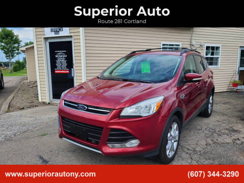 2013 Ford Escape for sale at Superior Auto in Cortland NY