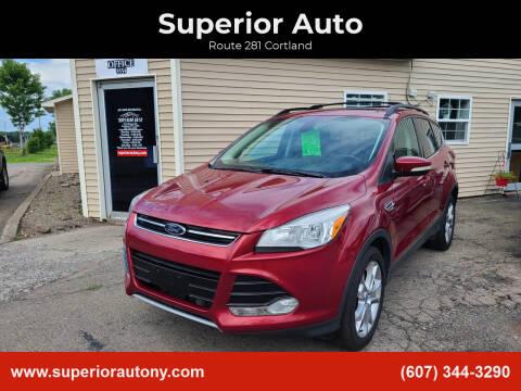 2013 Ford Escape for sale at Superior Auto in Cortland NY