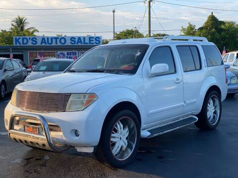 2007 Nissan Pathfinder for sale at KD's Auto Sales in Pompano Beach FL