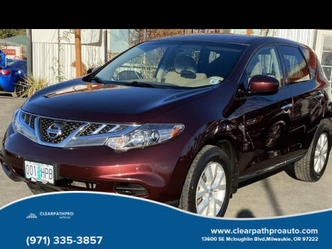 2014 Nissan Murano for sale at CLEARPATHPRO AUTO in Milwaukie OR