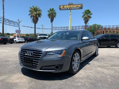 2014 Audi A8 L for sale at A MOTORS SALES AND FINANCE in San Antonio TX