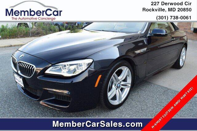 2017 BMW 6 Series for sale at MemberCar in Rockville MD