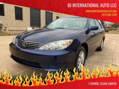 2005 Toyota Camry for sale at BJ International Auto LLC in Dallas TX