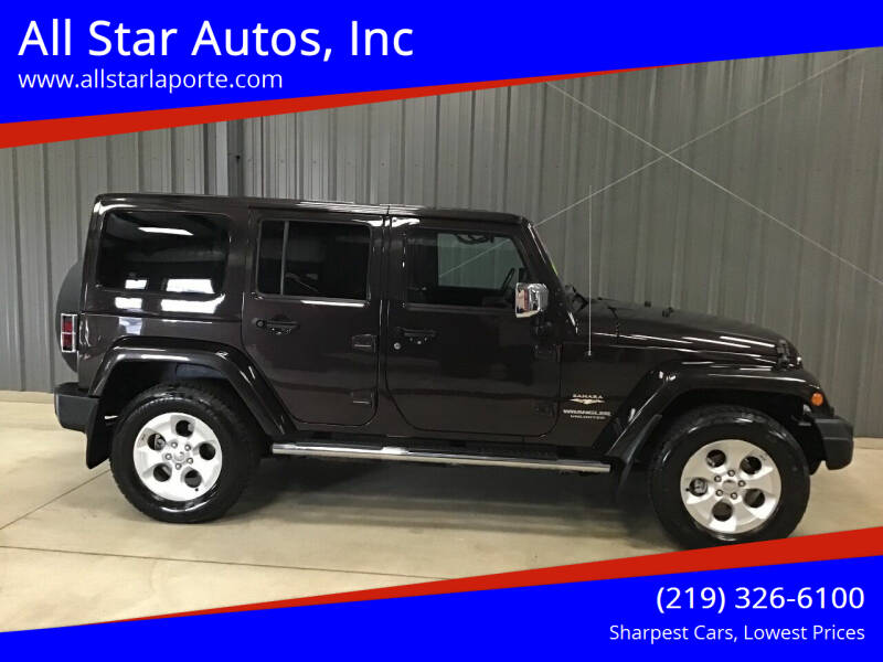 2013 Jeep Wrangler Unlimited for sale at All Star Autos, Inc in La Porte IN