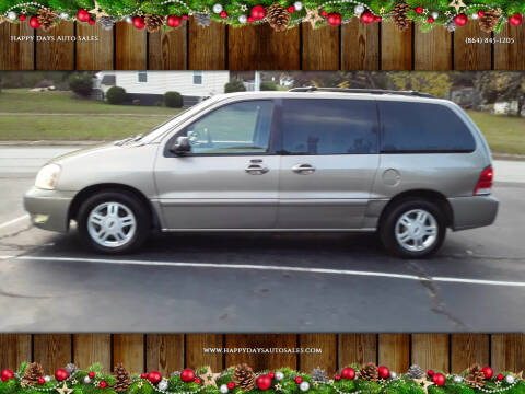 2004 Ford Freestar for sale at Happy Days Auto Sales in Piedmont SC