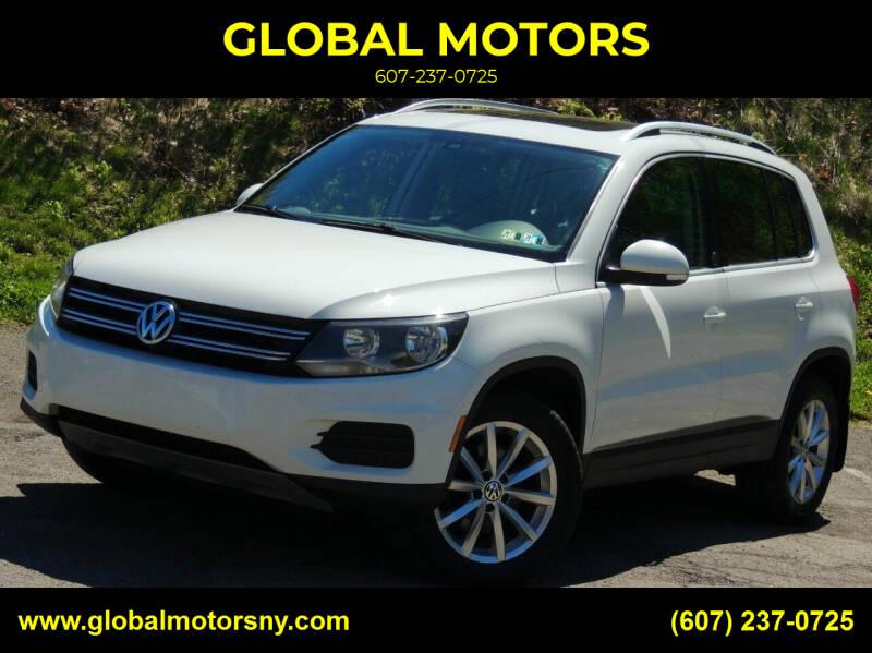 2017 Volkswagen Tiguan for sale at GLOBAL MOTORS in Binghamton NY