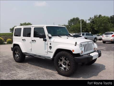 2013 Jeep Wrangler Unlimited for sale at BOB ROHRMAN FORT WAYNE TOYOTA in Fort Wayne IN