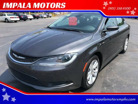 2016 Chrysler 200 for sale at IMPALA MOTORS in Memphis TN