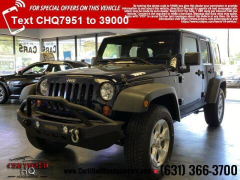 2013 Jeep Wrangler Unlimited for sale at CERTIFIED HEADQUARTERS in Saint James NY