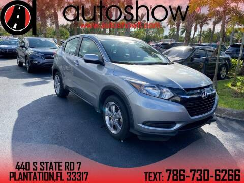 2017 Honda HR-V for sale at AUTOSHOW SALES & SERVICE in Plantation FL
