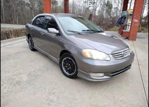 2003 Toyota Corolla for sale at A&Q Auto Sales in Gainesville GA
