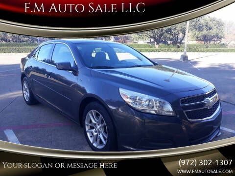 2013 Chevrolet Malibu for sale at F.M Auto Sale LLC in Dallas TX