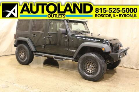 2012 Jeep Wrangler Unlimited for sale at AutoLand Outlets Inc in Roscoe IL