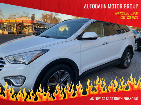 2015 Hyundai Santa Fe for sale at Autobahn Motor Group in Willow Grove PA
