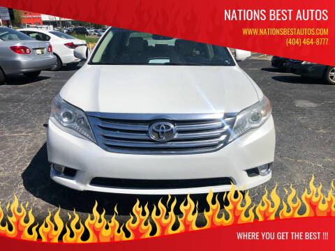 2012 Toyota Avalon for sale at Nations Best Autos in Decatur GA