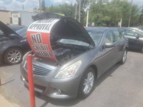 2012 Infiniti G37 Sedan for sale at J & J Used Cars inc in Wayne MI