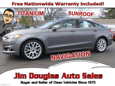 2013 Ford Fusion for sale at Jim Douglas Auto Sales in Pontiac MI