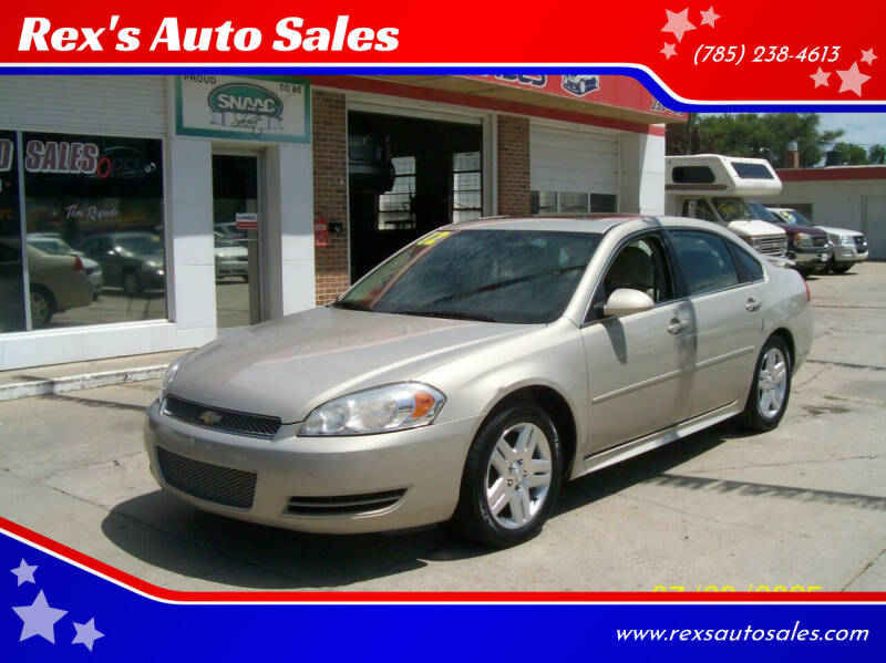 2012 Chevrolet Impala for sale at Rex's Auto Sales in Junction City KS