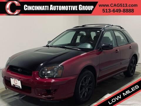 2004 Subaru Impreza for sale at Cincinnati Automotive Group in Lebanon OH