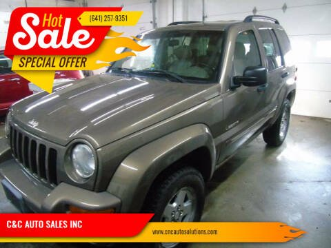 2002 Jeep Liberty for sale at C&C AUTO SALES INC in Charles City IA