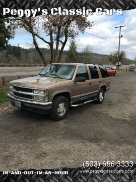 1996 Chevrolet Tahoe for sale at Peggy's Classic Cars in Oregon City OR