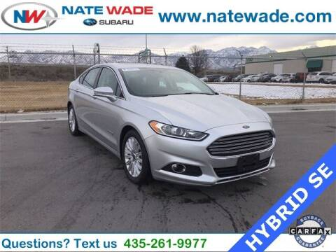 2016 Ford Fusion Hybrid for sale at NATE WADE SUBARU in Salt Lake City UT