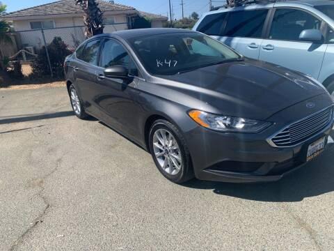 2017 Ford Fusion for sale at Contra Costa Auto Sales in Oakley CA