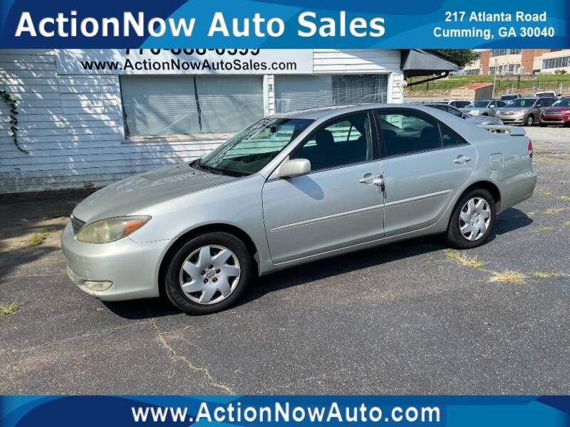 2003 Toyota Camry for sale at ACTION NOW AUTO SALES in Cumming GA