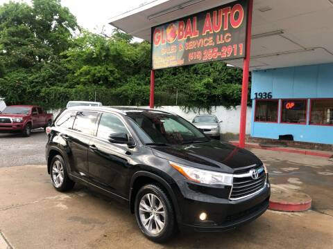 2014 Toyota Highlander for sale at Global Auto Sales and Service in Nashville TN