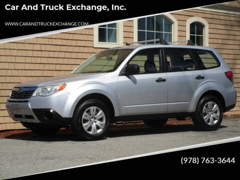 2010 Subaru Forester for sale at Car and Truck Exchange, Inc. in Rowley MA